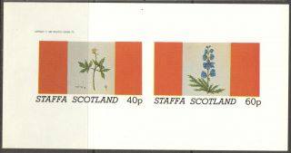 Staffa (br.  Local) 1982 Flowers Ii Anemone Sheet Of 2 Imperf.  Ns204 photo