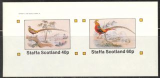 Staffa (br.  Local) 1982 Birds I Peacock Sheet Of 2 Imperf.  Ns207 photo