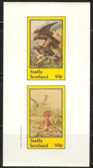 Staffa (br.  Local) 1982 Birds Ii Hawks Sheet Of 2 Imperf.  Ns208 photo