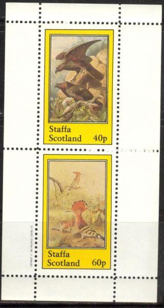 Staffa (br.  Local) 1982 Birds Ii Hawks Sheet Of 2 Ns209 photo