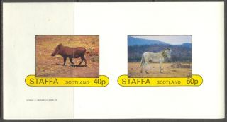 Staffa (br.  Local) 1982 Animals Zebras Sheet Of 2 Imperf.  Ns211 photo