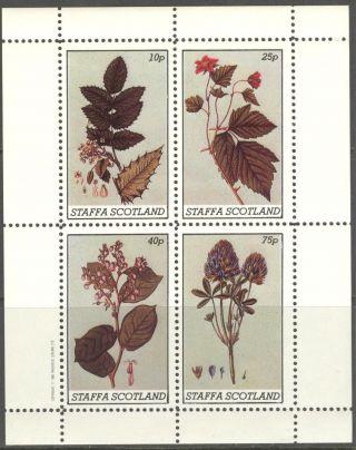 Staffa (br.  Local) 1982 Flowers I Sheet Of 4 Ns221 photo