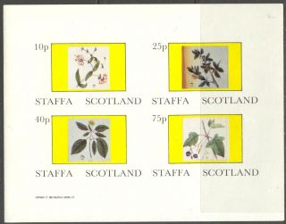 Staffa (br.  Local) 1982 Flowers Ii Sheet Of 4 Imperf.  Ns223 photo