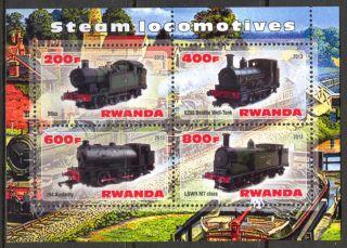 2013 Steam Locomotives Trains V Sheet Of 4 5r 133 photo