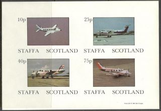 Staffa (br.  Local) 1981 Aviation Airplanes I Sheet 4 Imperf.  Ns243 photo