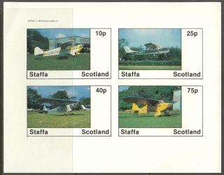 Staffa (br.  Local) 1982 Aviation Airplanes I Sheet 4 Imperf.  Ns248 photo