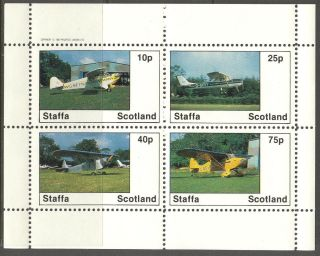 Staffa (br.  Local) 1982 Aviation Airplanes I Sheet 4 Ns249 photo