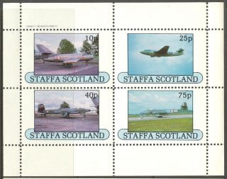 Staffa (br.  Local) 1982 Aviation Airplanes Ii Sheet 4 Ns250 photo