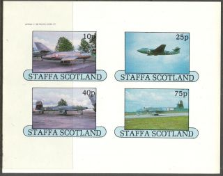 Staffa (br.  Local) 1982 Aviation Airplanes Ii Sheet 4 Imperf.  Ns251 photo