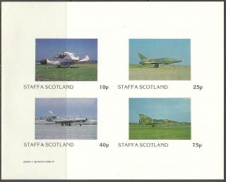 Staffa (br.  Local) 1982 Aviation Airplanes Iii Sheet 4 Imperf.  Ns252 photo