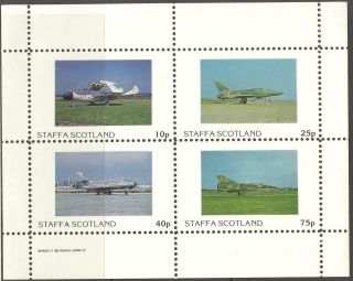 Staffa (br.  Local) 1982 Aviation Airplanes Iii Sheet 4 Ns253 photo