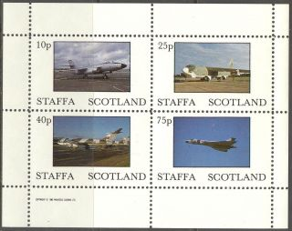 Staffa (br.  Local) 1982 Aviation Airplanes Iv Sheet 4 Ns254 photo
