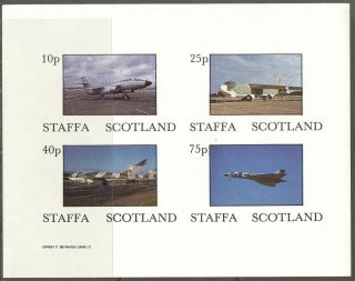 Staffa (br.  Local) 1982 Aviation Airplanes Iv Sheet 4 Imperf.  Ns255 photo
