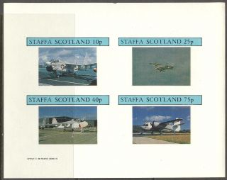 Staffa (br.  Local) 1982 Aviation Airplanes V Sheet 4 Imperf.  Ns256 photo