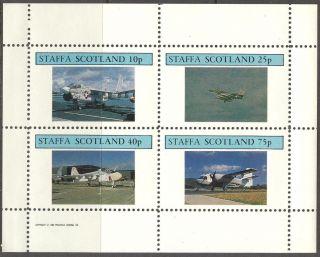 Staffa (br.  Local) 1982 Aviation Airplanes V Sheet 4 Ns257 photo