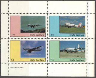 Staffa (br.  Local) 1982 Aviation Airplanes Vi Sheet 4 Ns258 photo