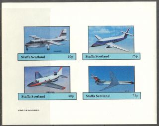 Staffa (br.  Local) 1982 Aviation Airplanes Vii Sheet 4 Imperf.  Ns260 photo