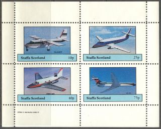 Staffa (br.  Local) 1982 Aviation Airplanes Vii Sheet 4 Ns261 photo
