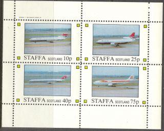 Staffa (br.  Local) 1982 Aviation Airplanes Viii Sheet 4 Ns262 photo
