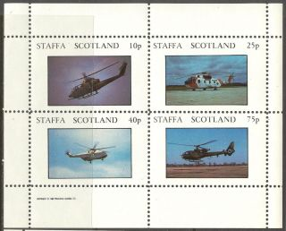Staffa (br.  Local) 1982 Aviation Helicopters Sheet 4 Ns263 photo
