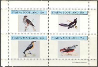 Staffa (br.  Local) 1981 Birds I Sheet 4 Ns264 photo
