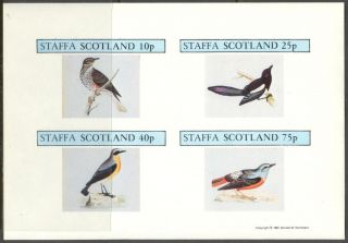 Staffa (br.  Local) 1981 Birds I Sheet 4 Imperf.  Ns265 photo