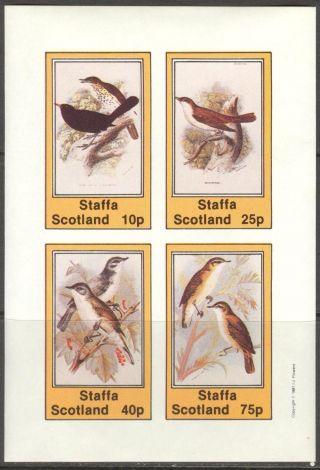 Staffa (br.  Local) 1981 Birds Iii Sheet 4 Imperf.  Ns269 photo