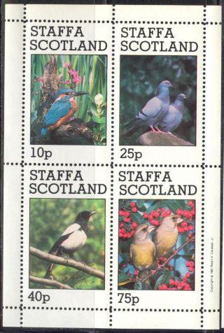 Staffa (br.  Local) 1981 Birds Vi Pigeon Sheet 4 Ns275 photo