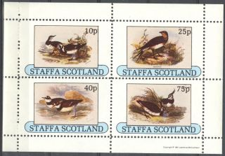 Staffa (br.  Local) 1981 Birds Vii Sheet 4 Ns276 photo