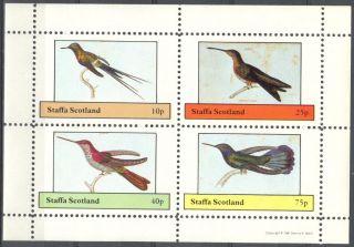 Staffa (br.  Local) 1981 Birds Ix Sheet 4 Ns280 photo