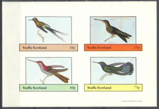 Staffa (br.  Local) 1981 Birds Ix Sheet 4 Imperf.  Ns281 photo