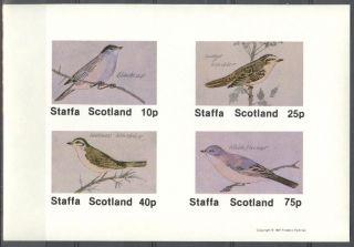 Staffa (br.  Local) 1981 Birds X Sheet 4 Imperf.  Ns282 photo