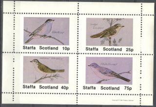 Staffa (br.  Local) 1981 Birds X Sheet 4 Ns283 photo