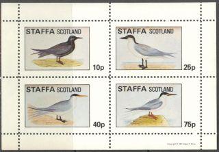 Staffa (br.  Local) 1981 Birds Xi Sheet 4 Ns284 photo