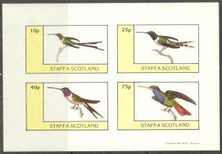 Staffa (br.  Local) 1981 Birds Xiii Sheet 4 Imperf.  Ns289 photo