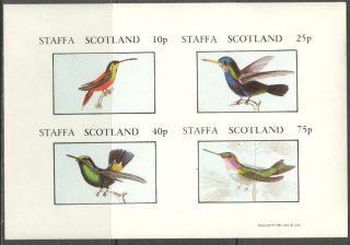 Staffa (br.  Local) 1981 Birds Xiv Sheet 4 Imperf.  Ns290 photo