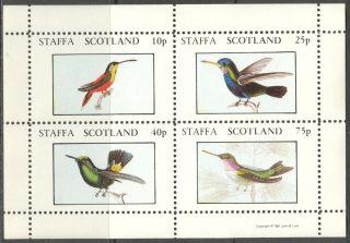Staffa (br.  Local) 1981 Birds Xiv Sheet 4 Ns291 photo