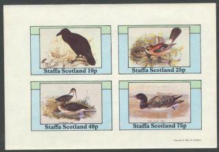Staffa (br.  Local) 1981 Birds Xviii Sheet 4 Imperf.  Ns295 photo
