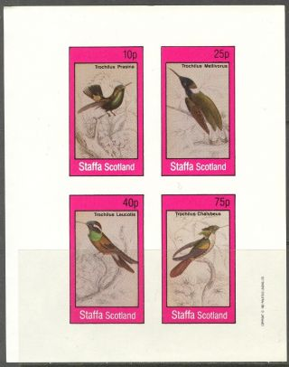 Staffa (br.  Local) 1982 Birds I Sheet 4 Imperf.  Ns296 photo