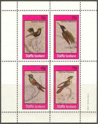 Staffa (br.  Local) 1982 Birds I Sheet 4 Ns297 photo