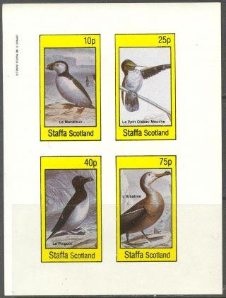 Staffa (br.  Local) 1982 Birds Ii Penguin Albatros Sheet 4 Imperf.  Ns299 photo
