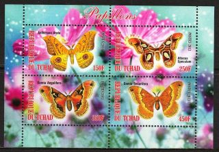 2013 Butterflies Iii Sheet Of 4 6t 214 photo
