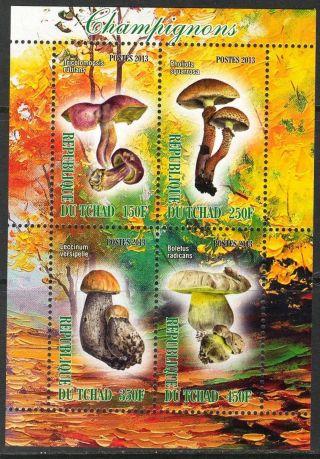 2013 Mushrooms I Sheet Of 4 6t 217 photo