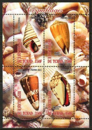 2013 Sea Shells Sheet Of 4 6t 224 photo