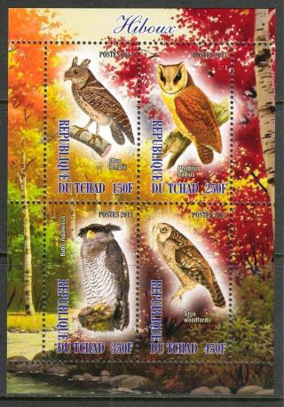 2013 Ravenous Birds Owls Sheet Of 4 6t 127 photo