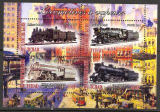 2013 Trains Locomotives I Sheet Of 4 6t 130 photo