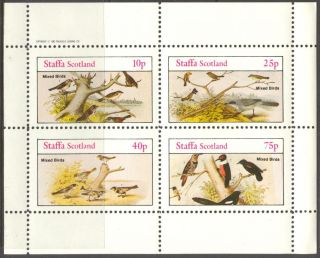 Staffa (br.  Local) 1982 Birds Xii Sheet Of 4 Ns317 photo