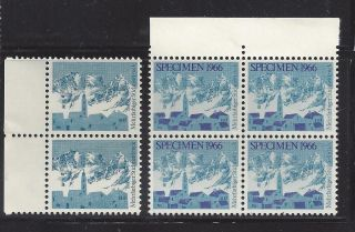 4 And Pair Mountain Village Test Stamp Switzerland