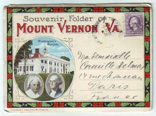 Usa 1919 Early Maximum Card George Washington Fold - Out Mailed Maxi Card photo
