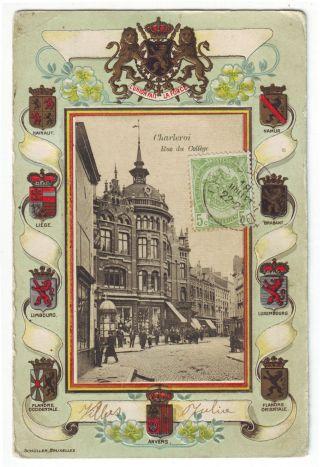 Belgium 1900 - 10 Early Maximum Card Belgian Lion Coat - Of - Arms Mailed Card photo